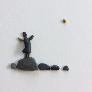 pebble art happiness
