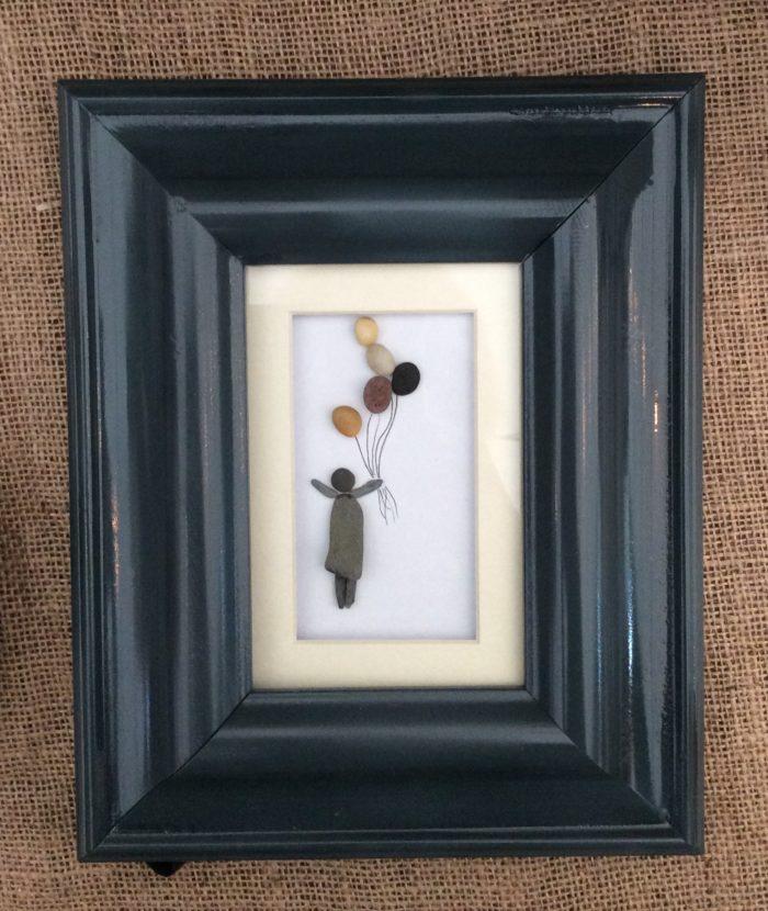 Pebble art flying 2