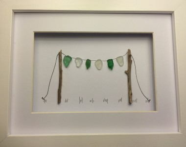 Pebble Art Pictures Sea Bunting
